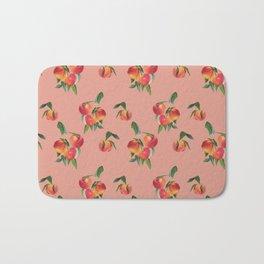 Peaches, Peach Pattern, Peach Illustration Bath Mat