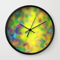 blur Wall Clocks featuring Blur by Mr and Mrs Quirynen