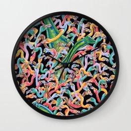 Flamencos y diplodocus Wall Clock