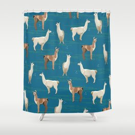 Peruvian Llamas Shower Curtain