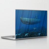 submarine Laptop & iPad Skins featuring U99 Submarine by Simone Gatterwe
