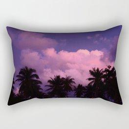 Pink clouds sunset Rectangular Pillow