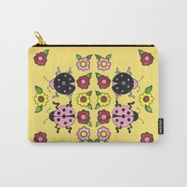Ladybugs with Flowers Carry-All Pouch