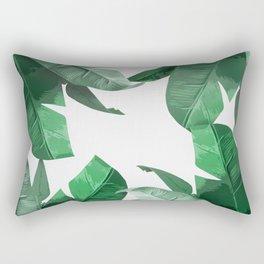 Tropical Palm Print Rectangular Pillow