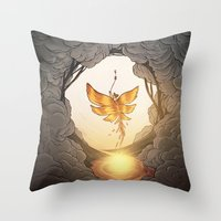 final fantasy Throw Pillows featuring final fantasy by Isabel Seliger