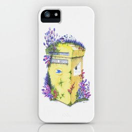 Growth on MailBox | Surrealistic Watercolor Painting by Stephanie Kilgast iPhone Case