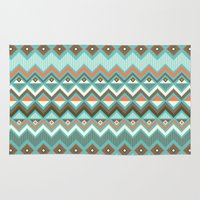 aztec Area & Throw Rugs featuring Aztec by Priscila Peress