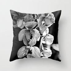 Orchid Noir Throw Pillow