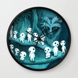 Kodama and the Forest Spirit Wall Clock