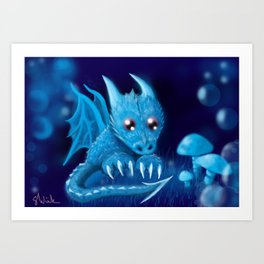 Blue Bubble Bop Art Print