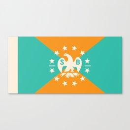 miami snowbird flag Canvas Print