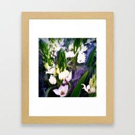 White blooms III Framed Art Print