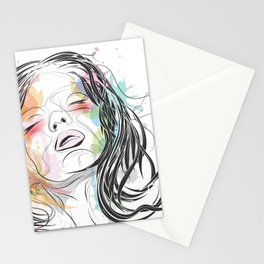 Portrait of a woman Stationery Cards