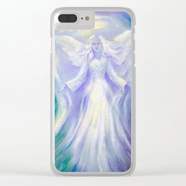 Angel of Love Clear iPhone Case