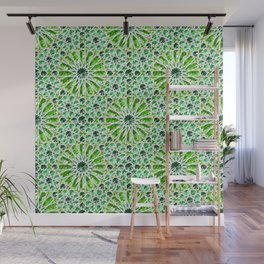 Geometric gemstones (emerald) Wall Mural