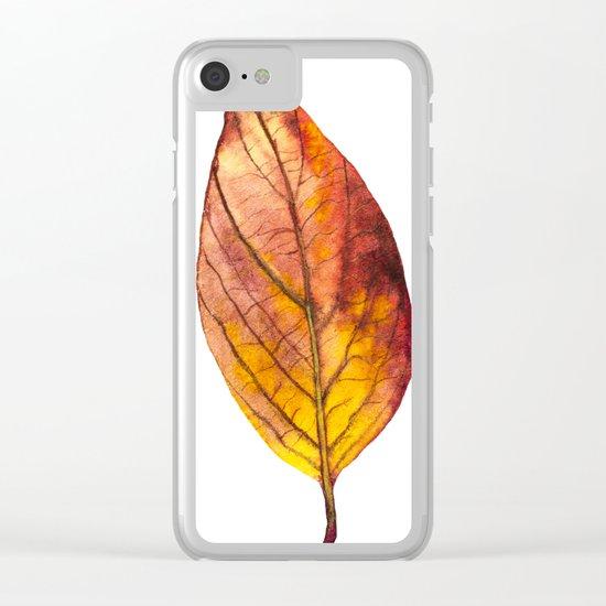 Autumn Leaf 03 Clear iPhone Case