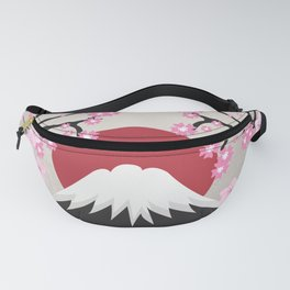 Mount Fuji Japan Cherry Blossoms Spring Nature Tokyo Asia Sunset Fanny Pack