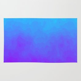 Blue and Purple Ombre - Swirly Rug
