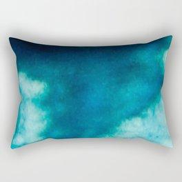Blue Whirlwind Rectangular Pillow