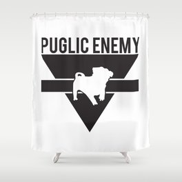 Puglic Enemy Shower Curtain