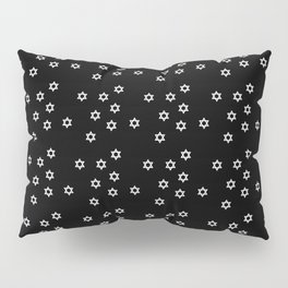 star of david 39 - black and white Pillow Sham