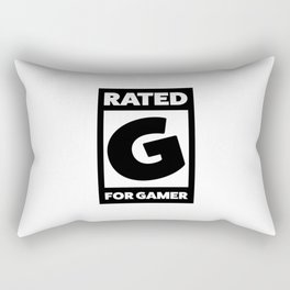 Rated G for gamer Rectangular Pillow