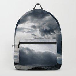Dramatic Sky - Rain Clouds Dark Gray Blue Monochrome #decor #society6 #buyart Backpack