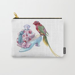 A box with a crystal handle, a baroque shoe and a bright parrot Carry-All Pouch