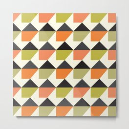 Geometric Pattern 104 (orange pink green Metal Print