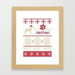 Irish Wolfhound christmas gift t-shirt for dog lovers Framed Art Print