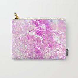 Modern pastel gem agate marble pattern pink pastel Carry-All Pouch