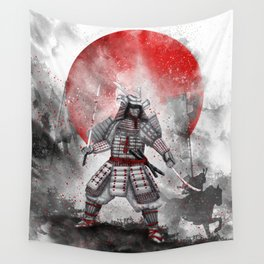 Banzai [The warrior on the hill] II Wall Tapestry
