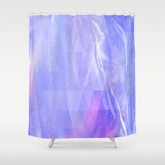light blue pink lila and white abstract silk look design shower curtain by anka society6. Black Bedroom Furniture Sets. Home Design Ideas