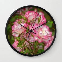 Nicole Roses Wall Clock