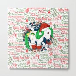 my little pony christmas Metal Print