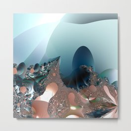 Hiding in a Fantasy Waterworld -- Fractal art by Twigisle at Society6 Metal Print