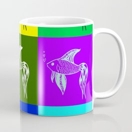 Siamese fighting fish, drawings of rainbow fish, fish Coffee Mug