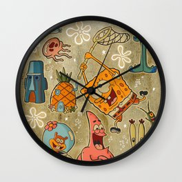 Sailor Jerry Spongebob Tattoo Sheet Wall Clock