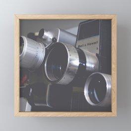 Vintage Video Cameras Framed Mini Art Print