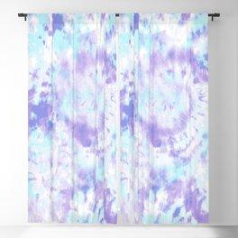 Blue and Purple Tie-Dye Blackout Curtain