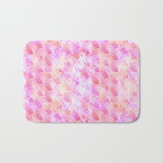 Pink waves pattern Bath Mat