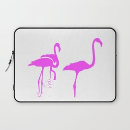 Three Flamingos Pink Silhouette Isolated Laptop Sleeve