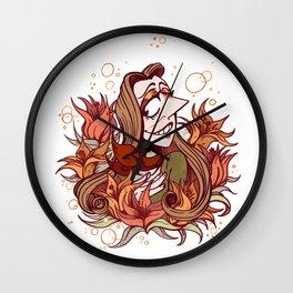 Summer Lillys Wall Clock