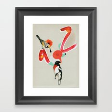a to z Framed Art Print