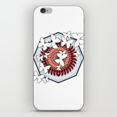 White butterflies on mandala iPhone & iPod Skin