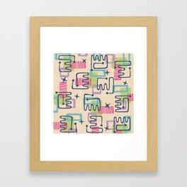 Mid Century Modern Abstract Pattern 732 Framed Art Print