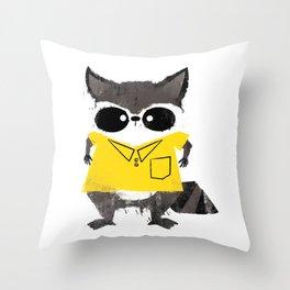 Missfits Raccoon Throw Pillow