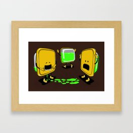 Radioactive Tupper Framed Art Print