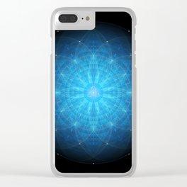 crystal mind. sacred geometry mandala Clear iPhone Case