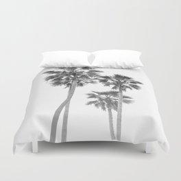 Monochrome California Palms Duvet Cover
